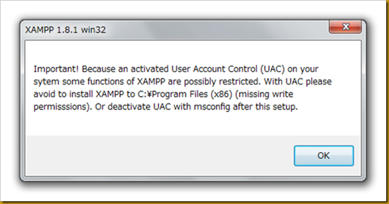 SnapCrab_XAMPP 181 win32_2012-12-19_20-49-15_No-00