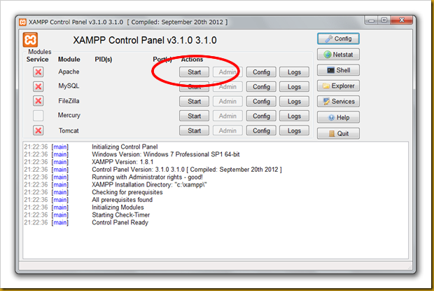 SnapCrab_XAMPP Control Panel v310 310  [ Compiled September 20th 2012 ]_2012-12-19_21-24-31_No-00