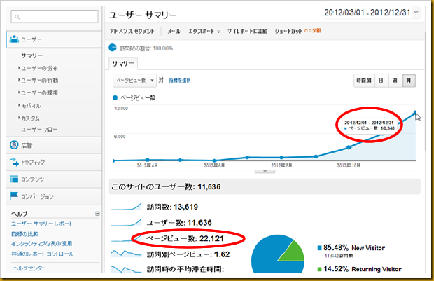 SnapCrab_ユーザー サマリー - Google Analytics - Google Chrome_2013-1-1_13-5-35_No-00